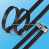 Tipo legame dell'ala della fascetta ferma-cavo ricoperto PVC dell'acciaio inossidabile della chiusura lampo