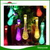 Waterdrop水晶太陽動力を与えられた屋外LEDストリングは結婚式または党装飾のための防水をつける