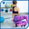 Frauen, die Bewegungs-Gamaschen-Rosa-geometrische Druck-Yoga-Hosen verbinden