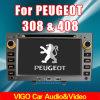 7 '' reproductores de DVD GPS Sat Nav TV de radio del coche de HD para Peugeot 308 408 (VPE7011)
