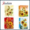 Слоение солнцецветов напечатанное Cmyk дешевое лоснистое продает бумажный мешок оптом подарка