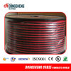 Cable transparente flexible del altavoz del color rojo y negro