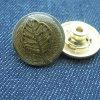 Кнопки металла джинсыов сбор винограда листьев латунные для пальто