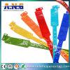 Pulseras médicas de la identificación del silicón plástico