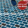 파란 혼합 금 선 최신 용해 유리제 모자이크 타일 (BGZ020)