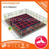 Los trampolines más seguros de la base grande del trampolín con la red de seguridad