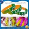 Wristband rotondo poco costoso su ordinazione del braccialetto del silicone del nuovo regalo promozionale 2015
