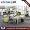 Nouveau conseil de la conception MFC/MDF pour le poste de travail de bureau de 2 personnes (HX-MT5083)