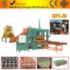 Paver машинного оборудования конструкции Qt5-20 продукта Китая Semi автоматический кладя список цен на товары машины делать кирпича машины конкретный для сбывания