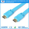 Version1.4 Flat TV Cable Gold Plated HDMI Cable con 3D