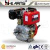 10 HP motor diesel con eje de rosca de color rojo (HR186F)