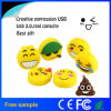 Ручка памяти USB Emoji шаржа PVC Pendrive промотирования