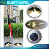 basamento dell'interno ufficiale dorato d'acciaio del Flagpole di alta qualità di 245cm (J-NF21M03001)