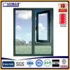 Guichet vers l'intérieur de tissu pour rideaux d'ouverture d'oscillation avec la glace Tempered/tissu pour rideaux plaqué en aluminium Windows