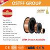 alambre de soldadura Cobre-Revestido de MIG del sólido del carrete plástico D270/D300 de 0.8m m (G3Si1/SG2)