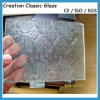 vidro desobstruído/de bronze de 3mm vidro figurado 1830*2440mm de Nashiji