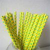 Желтая и зеленая сторновка бумаги МНОГОТОЧИЯ польки для партии