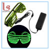Customed LED Glowing Performance Show Window-Blinds Shape Glasses