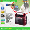 Haut-parleur portatif de Bluetooth FM de karaoke à la mode