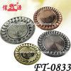 Bandeja del alimento de la flor del cobre plateado del acero inoxidable (FT-0833)