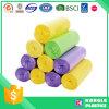 Sacs d'ordures biodégradables colorés en plastique de vente chaude