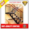 Diseño L escalera del cliente con el paso de progresión de madera