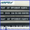 Tuyau en caoutchouc tressé de fil hydraulique de SAE100 R2 DN 3/8 «