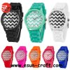 Stock Fashion Silicone Watch에 있는 8개의 색깔