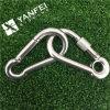 Gancio dello schiocco della molla dell'acciaio inossidabile AISI304 con l'occhiello