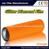 De oranje Briljante Film van de Diamant, VinylFilm van de Omslag van de Auto van het Lichaam van de Auto van de Diamant Pearlized de Vinyl
