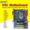 Processeur de duo du faisceau 2 de support du plot 1156 de la carte mère H55