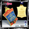 Gold modificado para requisitos particulares Medal con Ribbon