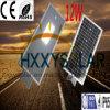 屋外12Wセリウム1つの太陽LEDの街灯のすべて