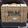 옥외 환경 자연적인 고리 버들 세공 픽크닉 바구니