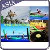 Kundenspezifische aufblasbare Sport-Spiele lustiges Bossaball/Volleyball-Gericht