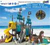 Campo de jogos Curvy Hf-13602 das crianças da corrediça do navio de pirata