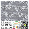 100% Lace sicuro Fabric M9063 con Highquality