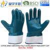 Gants de travail de sûreté enduits par nitriles du Jersey Shell de coton (N1605)