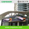 Chipshow P10 esterno che fa pubblicità alla parete dell'esposizione di LED