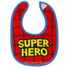 Boys personalizado Printed Cotton Jersey Two Layersbibs com Snaps Waterproof Absorbent Drooler Bibs