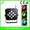 9 X10W recargable LED PAR luz inalámbrica