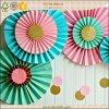 Ventiladores de papel coloridos decorativos de la decoración promocional del partido
