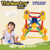 Brinquedo educacional do edifício para blocos de conetor plásticos do edifício dos miúdos