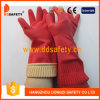 Gant fonctionnant de long ménage perlé de manchette rayé par bande rouge (DHL442)