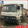 수동 백색 Free Repaint Used Hyundai 남쪽 한국 Make 8~10cbm/15ton 6*4-Drive Dump Truck