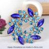 ウェディングドレスのアクセサリの円形のダイヤモンドの水晶ラインストーンのブローチ(円形TB-034)