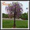 Árvore artificial plástica da flor das glicínias da fibra de vidro da decoração do casamento
