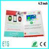 Cartão video do LCD Vieo Brochure/LCD com fone de ouvido
