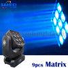 lumière principale mobile de faisceau de 9PCS *15W 3X3 LED Matrix