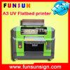 Nuovo PVC Printer di Model Flatbed con Lamp UV Dx5 Head 1440dpi per il biglietto da visita Glass Phone Caso T Shirt Printing di identificazione Card di CI